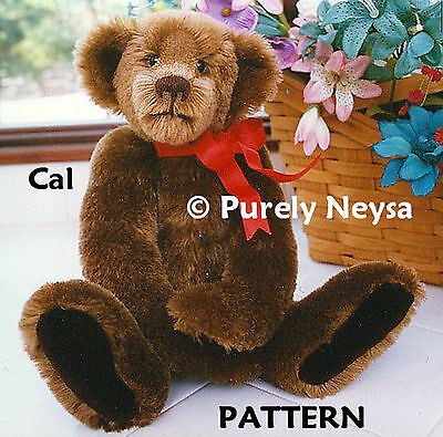 "Mohair or Plush  ""Cal""  Teddy Bear PATTERN by Neysa A. Phillippi of Purely Neysa"