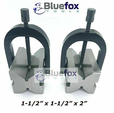 Steel V Block 2x1.5x1.5 With Sets Of Clamp Hardened Ground