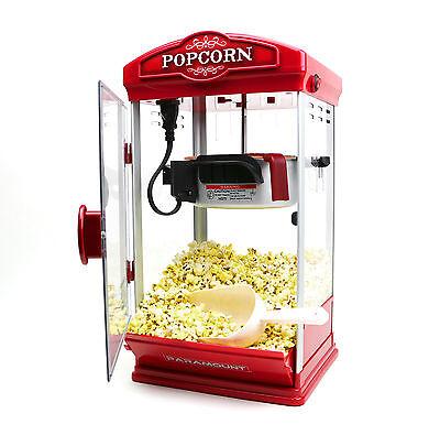 الة صنع الفشار جديد 8oz Red Popcorn Maker Machine by Paramount – New 8 oz Capacity Theater Popper