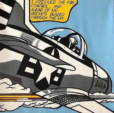 Steve Kaufman SAK - Homage to Roy Lichtenstein (Whaam!) - Embellished Silkscreen