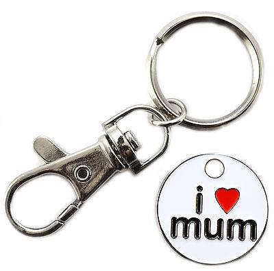 I LOVE MUM Trolley Marke Münze Schlüsselanhänger x 48 GROßHANDEL