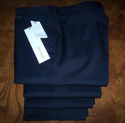 New KRIS VAN ASSCHE Black Pants 52 ITALY
