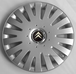 14 39 39 wheel trims hub cups for citroen c1 c2 c3 saxo 4 x 14 39 39 silver ebay. Black Bedroom Furniture Sets. Home Design Ideas