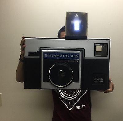 Vintage Kodak Instamatic X-15 Camera Display From A Retail Camera Store
