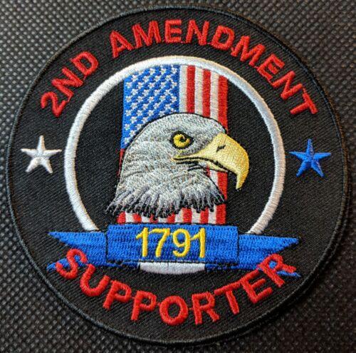 2nd Amendment Supporter Embroidered Biker Patch