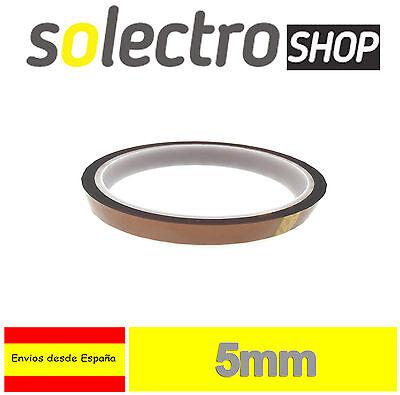 Cinta Termica 5mm Tape Temperature Resistant Polyimide Kapton 3D Printer I0062