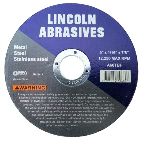 """100 Pack 5"""" x 1/16"""" x 7/8 Cut-off-Wheels Cutting Discs Steel & Metal"""
