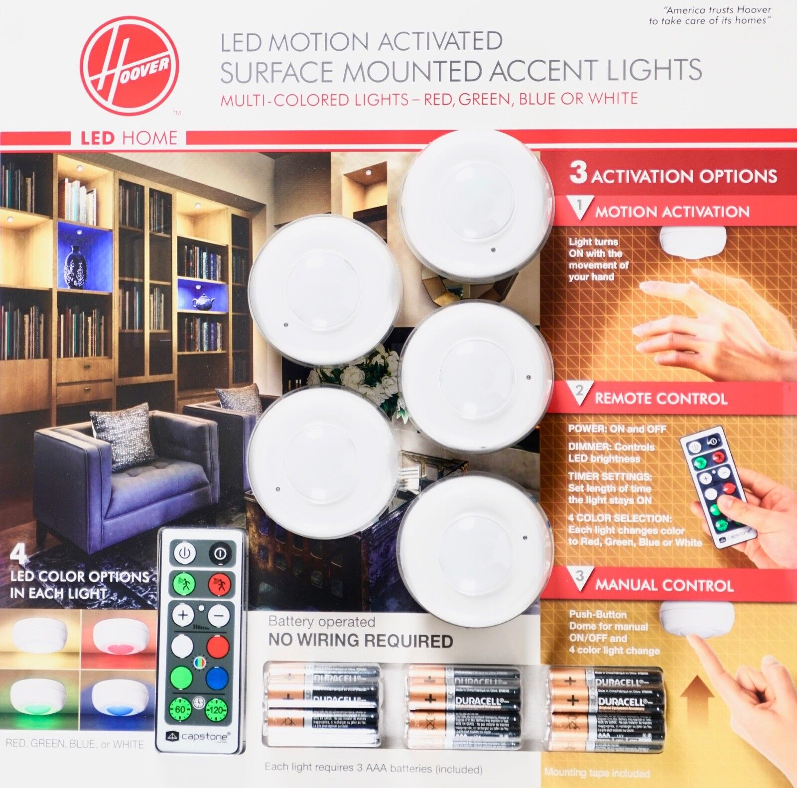 Hoover Multi-Color LED Accent Lights with Remote Control