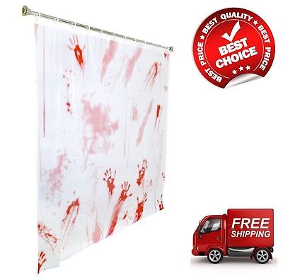 Bloody Hands (Halloween Bloody Hand Shower Curtain Double-Sided 71
