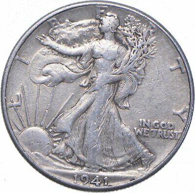 XF 1941 Walking Liberty 90 Silver US Half Dollar - NICE COIN 566 - $15.01