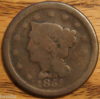 1851 LARGE BRAIDED HAIR CENT  AG ABOUT GOOD TO G GOOD AND OVER 150YRS OLD