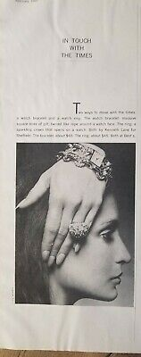 1969 Kenneth Lane 4 Sheffield vintage watch bracelet ring jewelry ad