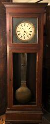 Rare Antique French/Swiss Pinwheel Jeweler's Regulator Floor Clock