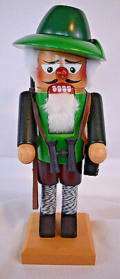 Vintage Original Steinbach Volkskunst German Nutcracker Bird Hunter with Gun