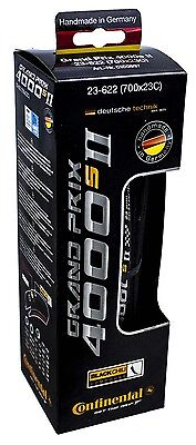 NEW in BOX 2016 Continental Grand Prix 4000s II Black 700 x 23c Road Bike Tire