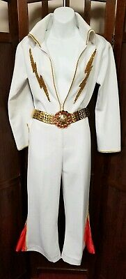 Children's Elvis Halloween Costumes (White Elvis rock and roll Halloween costume small adult/large)