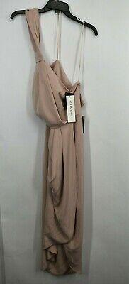 Shona Joy Womens Pink CORE Collection High Neck Knot Draped Midi Dress 10 $280