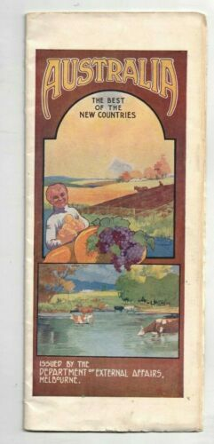 1914 Guide to Australia Cities Climate Commerce Farming Mining Manufacturing Map