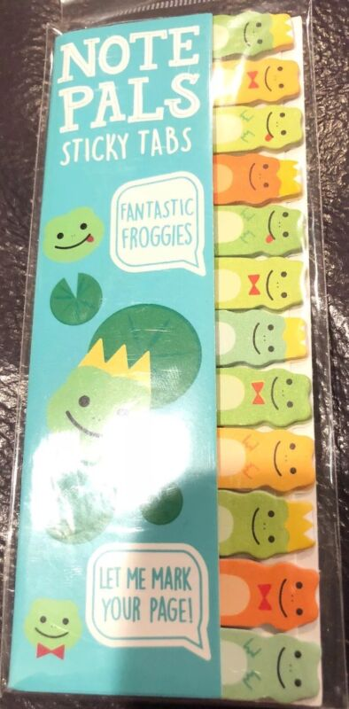 OOLY Note Pals Sticky Tabs Fantastic Froggies Bookmark Homework New