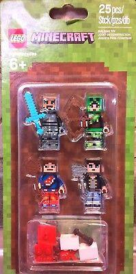 Lego Minecraft 853609 Skin Pack 1 Mojang 25 Pcs