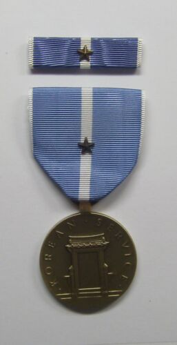 U.S. Korean Service Military Medal with RIBBON 1 Battle Star