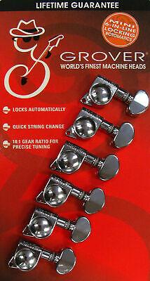 Rotomatic Tuning Machine - Grover 406C6  Mini Rotomatic  Locking Tuning Machine, Chrome Finish