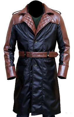 Jacob Frye Assassin's Creed Syndicate Mens Leather Trench Coat Costume-BNWT](Trenchcoat Costume)