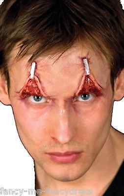 Halloween Zombie breit Awake Reißverschluss Spezialeffekte Make-Up Kostüm (Reißverschluss Kostüm Make Up)