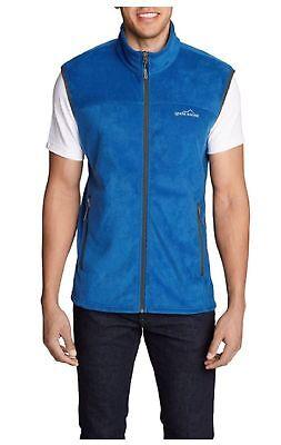 Eddie Bauer Mens Size 2X-Large Quest 200 Fleece Vest, True Blue 2x Large Polyester Fleece
