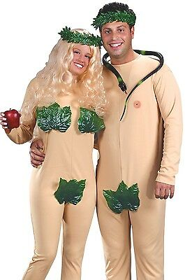 Adult Costume Couples (Adam and Eve Costume Adult Couples Funny Humorous Naked Fig Leaf - Fast Ship)