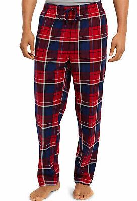 New Mens Nautica Sleepwear Red Blue Plaid Flannel Pajama Lounge Pants XL