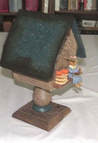 Bird House Wood Tin Roof Bear Pumpkins Decorative Give Thanks