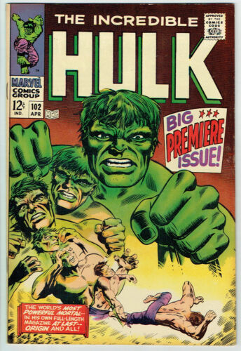 INCREDIBLE HULK  102  VF+/8.5 - Beautiful copy of debut Silver Age issue!