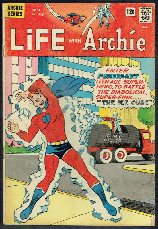 LIFE WITH ARCHIE  42  GD/VG/3.0 - 1st appearance of Pureheart!
