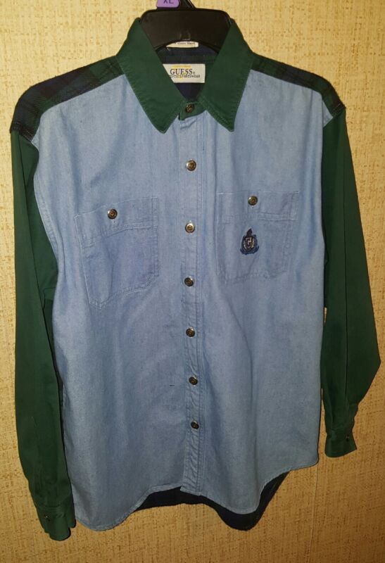 Guess jeans Georges marciano Vintage Longsleeve  Sportswear Shirt Youth Large