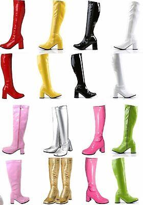 Damen & Ladies Kostüm Party Gogo Stiefel - 60s & 70s Party Größen 3 Sich - Großbritannien Kostüm