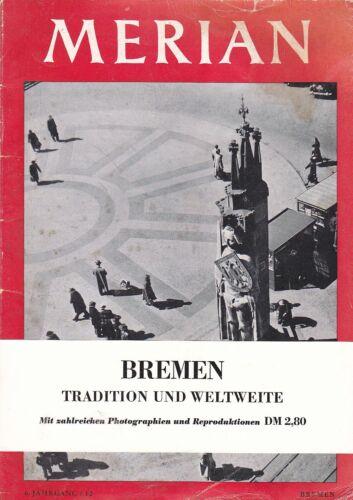 @ Merian-Heft von 1953 - Bremen (6. Jg. - Heft Nr. 12; incl. Banderole)