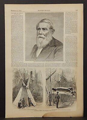 Harper's Weekly Late Rev. John P. Durbin Portrait & Centennial Views 1876 A18#94