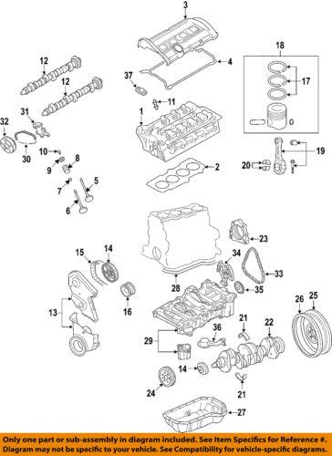 vw volkswagen oem 06 08 passat engine timing chain tensioner31 on diagram only genuine oe factory original item