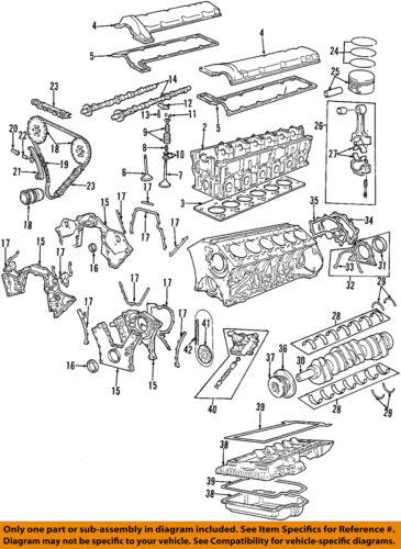 BMW OEM 98-01 750iL-Engine Piston Ring 11251707874