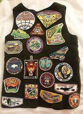 Vintage 1960's BSA Boy Scouts Camp Patches Vest