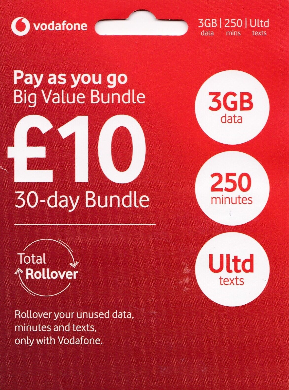 Vodafone UK Sim Card In official sealed Pay As You Go Triple