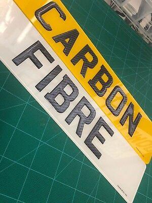 3D GEL NUMBER PLATES CARBON FIBRE 3D GEL RESIN DOMED PLATES PAIR RAISED NUMBER P