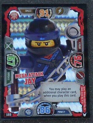 LEGO NINJAGO series 3 Trading Card Special 188 MEGA ATTACK JAY