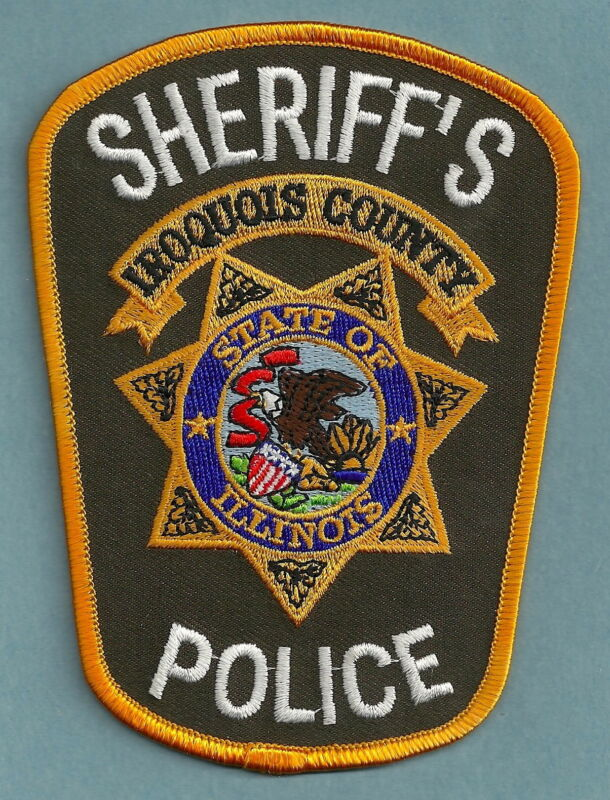 IROQUOIS COUNTY SHERIFF ILLINOIS SHOULDER PATCH