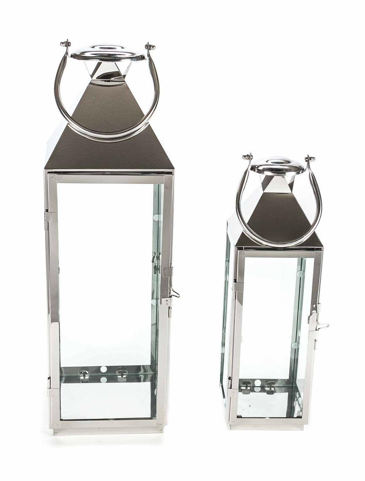 Edelstahllaterne Metalllaterne Windlicht Edelstahl Gartenlaterne Kerzenhalter