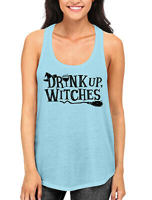 Drink Up Witches Funny Halloween October Alcohol  Women's Racerback Tank