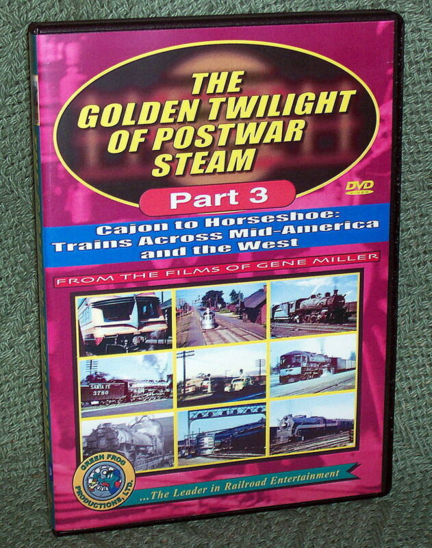"20088 TRAIN VIDEO DVD ""POSTWAR STEAM #3"" SOUTHERN PACIFIC, SANTA FE, UP"