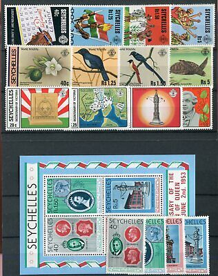 Seychelles QEII 1978 Commemorative issues MNH Wildlife Liberation Coronation Vic