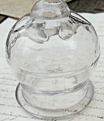 Antique French Glass Dome Miniature Display Cup 1880 Medicinal cupping glass